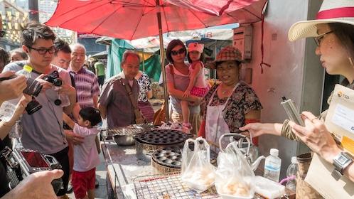 Street food cooking demonstrations in Bangkok