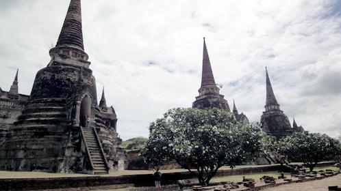 A row of structures at the Ayutthaya in Bangkok