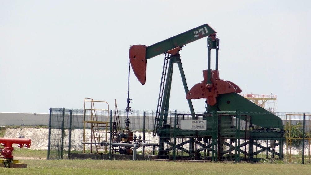 Show item 4 of 5. Close view of the Private Seria Oil Field