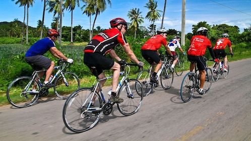 Large group cycling in Thailand