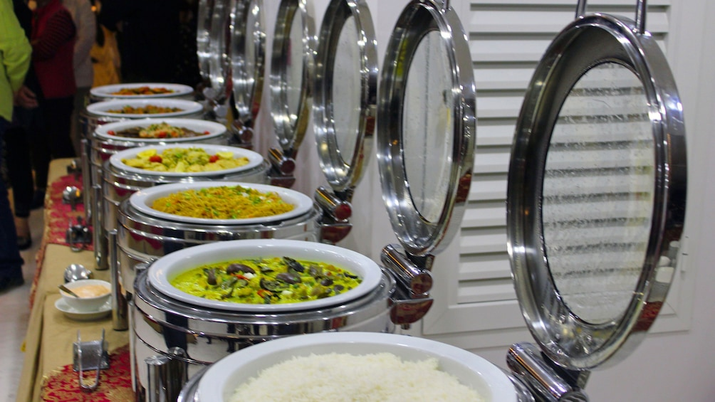 A buffet of food.