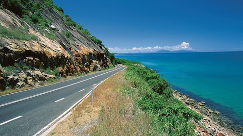 Stunning view of the water and road in Cairns