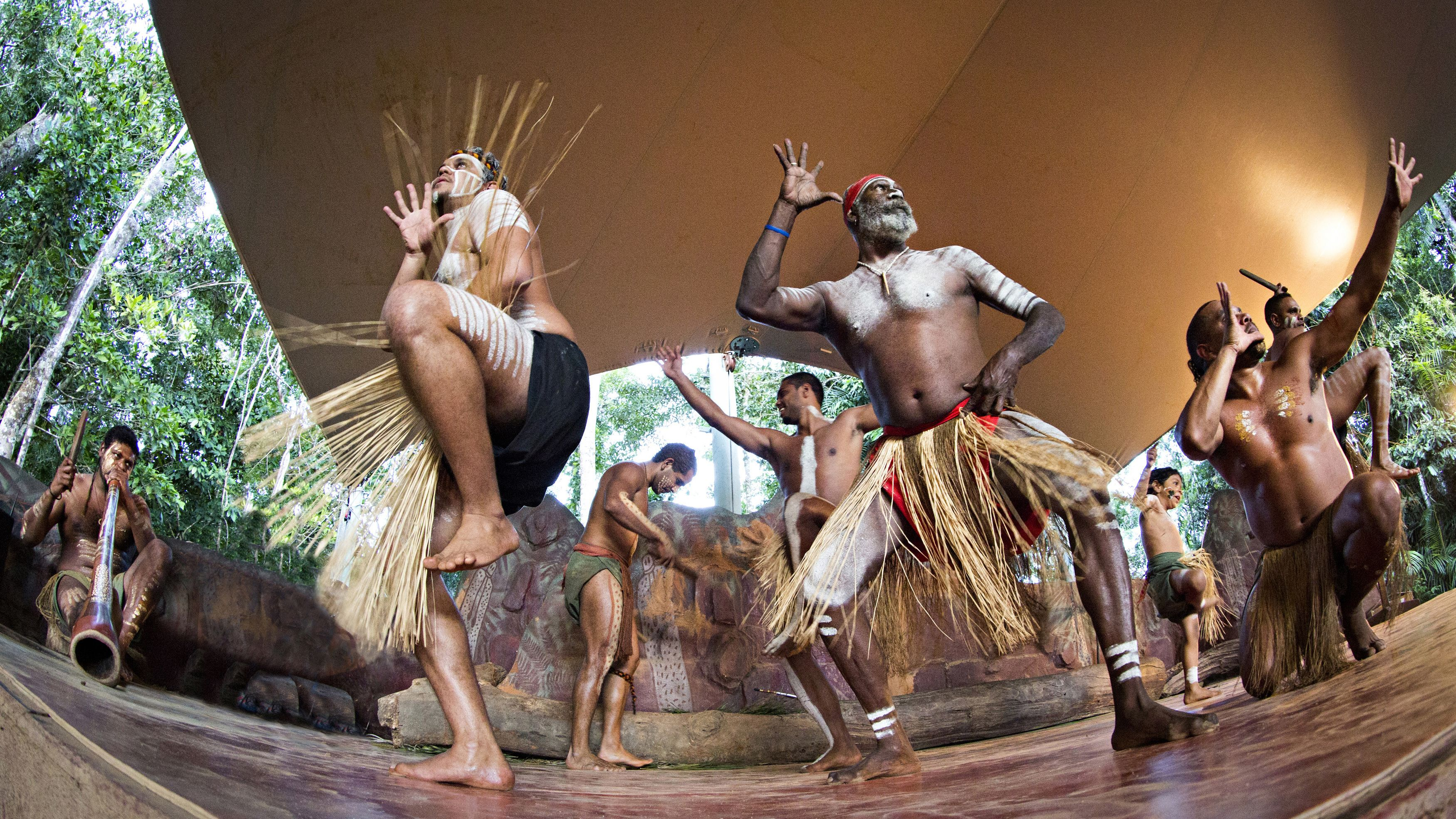Dancers performing at the Pamagirri Aboriginal Experience in Kuranda