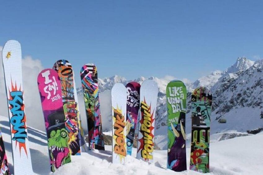Show item 2 of 3. Mammoth Mountain Premium Snowboard Rental Including Delivery