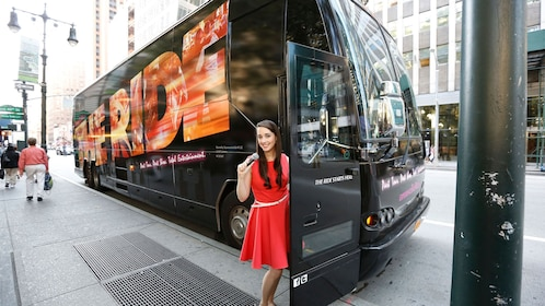 The Ride bus with tour guide in New York