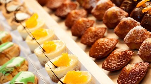 Miniature pastries for tea at the Burj Khalifa in Dubai
