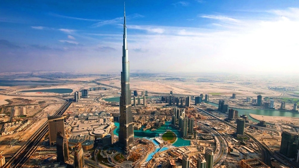 Burj Khalifa towering over the Dubai skyline