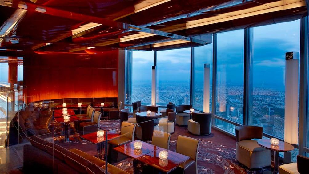 Restaurant inside the Burj Khalifa in Dubai