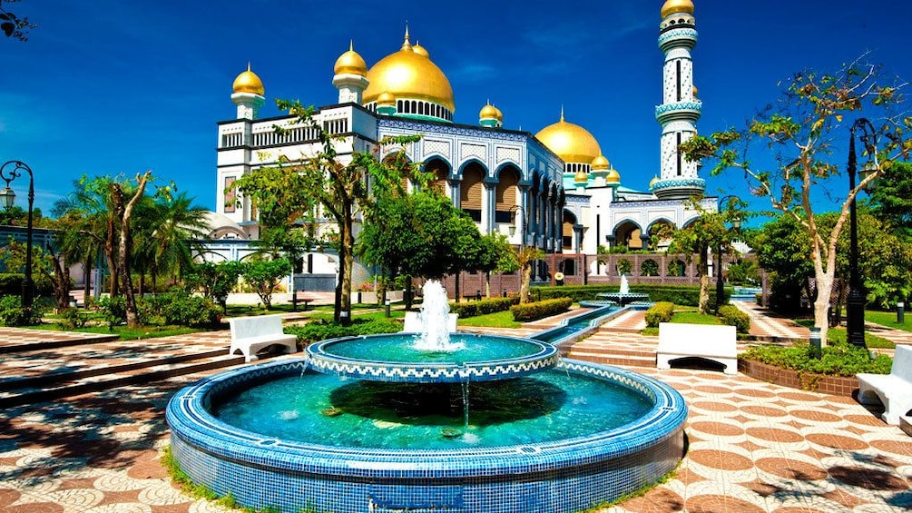 Show item 5 of 5. Day view of a beautiful building and fountain in Brunei
