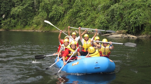 Tour group on a scenic rafting trip in Bangar