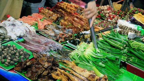 Ingredients for Vietnamese dishes in Hanoi