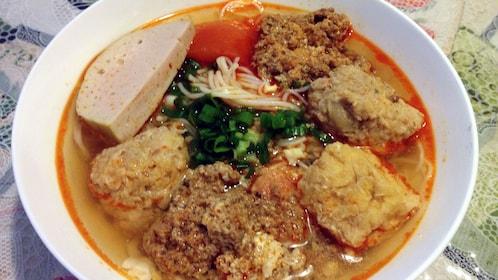 Vietnamese noodle soup in Hanoi