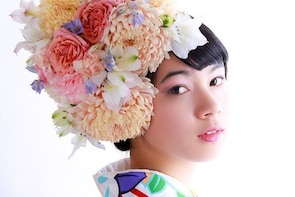 2【MOMIJI course】Kimono Hire, Make-up & professional Photo shoot