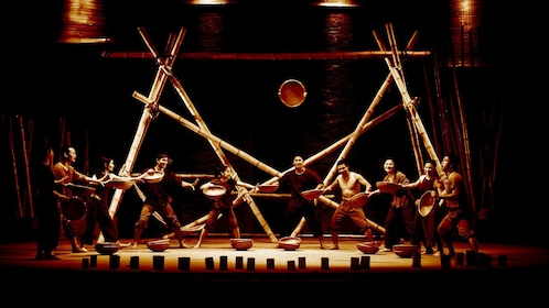 Stunning view of the stage of performers during the A O Show Saigon in Ho Chi Minh City
