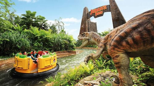 Jurassic Park Water ride at the Universal Studios in Singapore