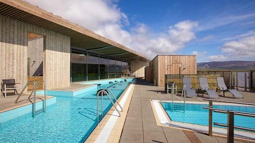 Pool in the Laugarvatn Fontana geothermal spa in Reykjavik