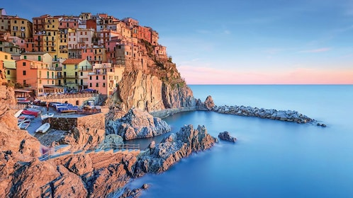 Cliff town view near Florence Italy