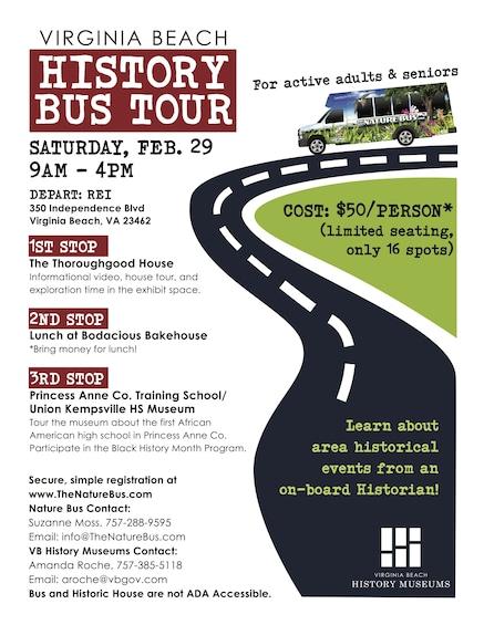 Show item 1 of 1. Virginia Beach History Bus Tour
