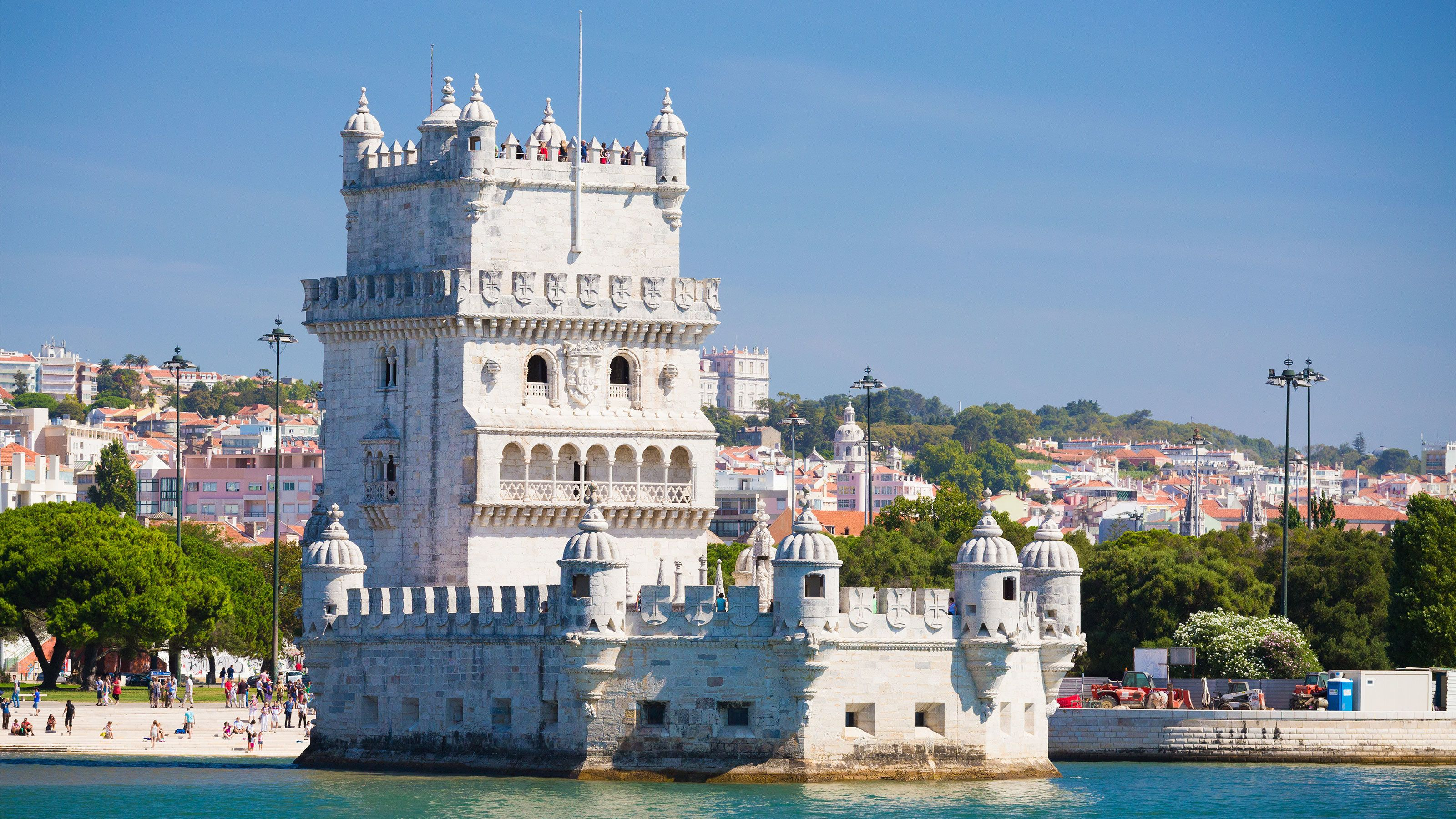 fortified Belém Tower in Portugal