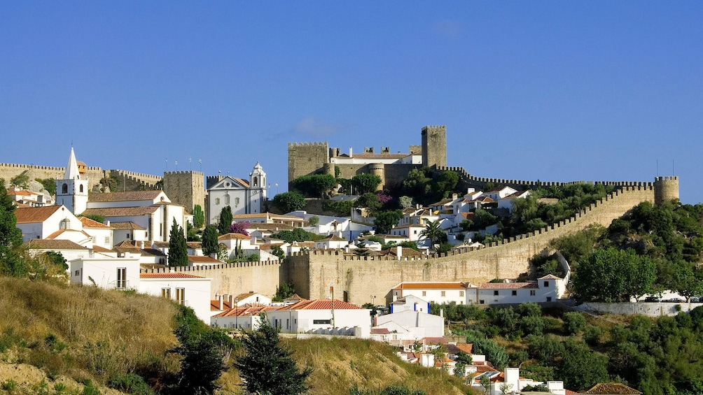 old stone castle walls in Portugal