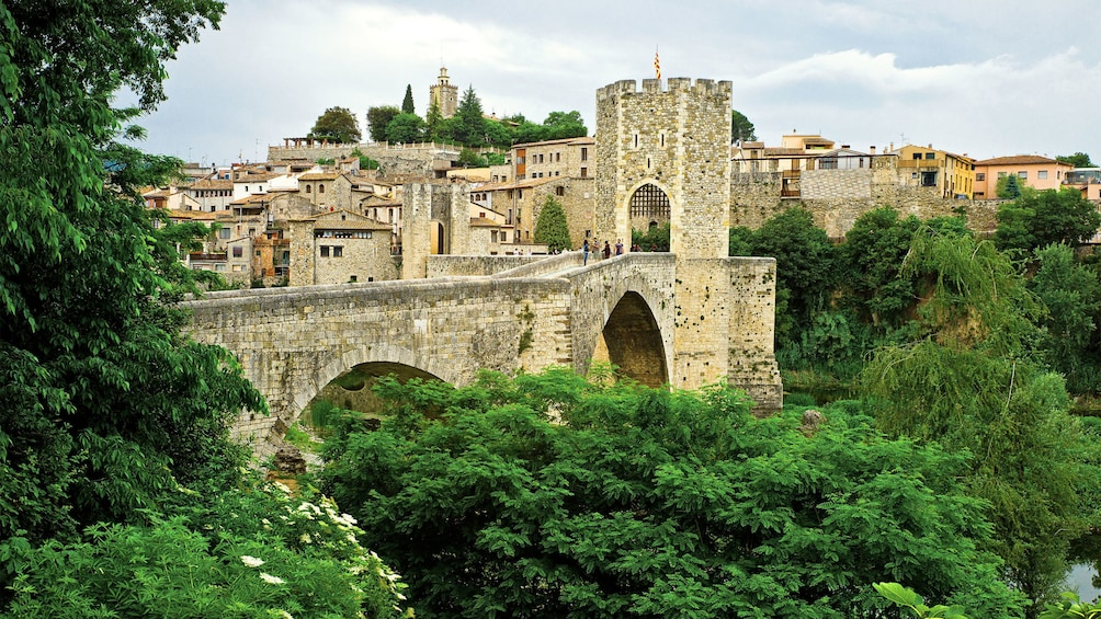 Show item 2 of 5. stone bridge by Castellfollit de la Roca in Barcelona