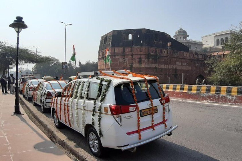 Republic Day celebration behind Agra fort