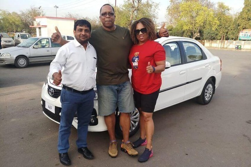 new car with my guest
