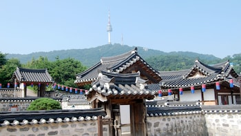 N Seoul Tower, byn Hanok och Korean War Memorial