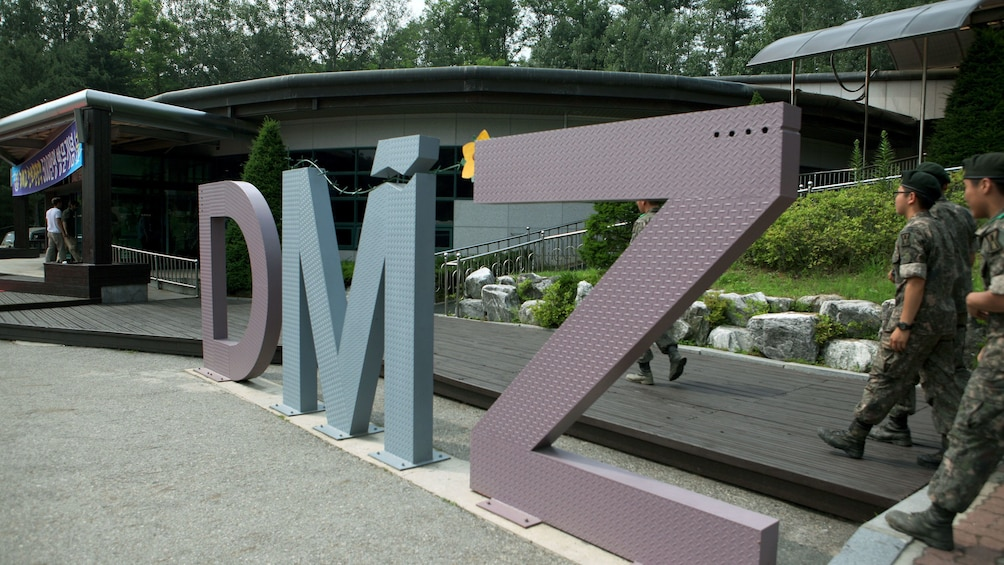 Show item 1 of 5. DMZ sign in seoul