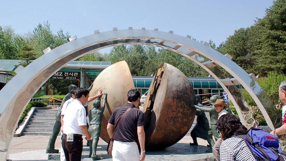 Show item 4 of 5. large split globe in seoul