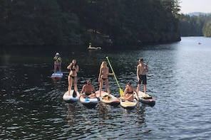 Paddling Thetis Lake