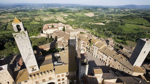 aerial view on Tuscany tour in Italy