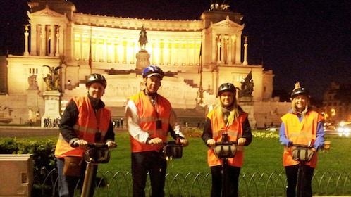 Night view of segway tour in Rome Italy