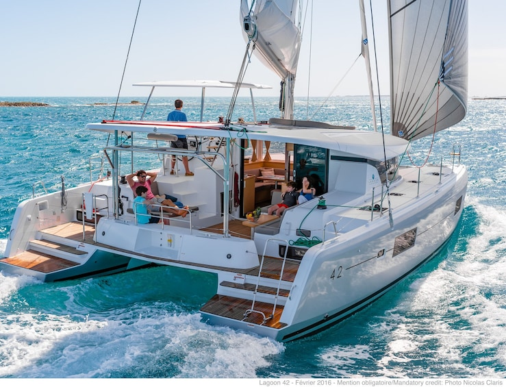 Show item 2 of 9. Small-Group Deluxe Catamaran Sailing Cruise
