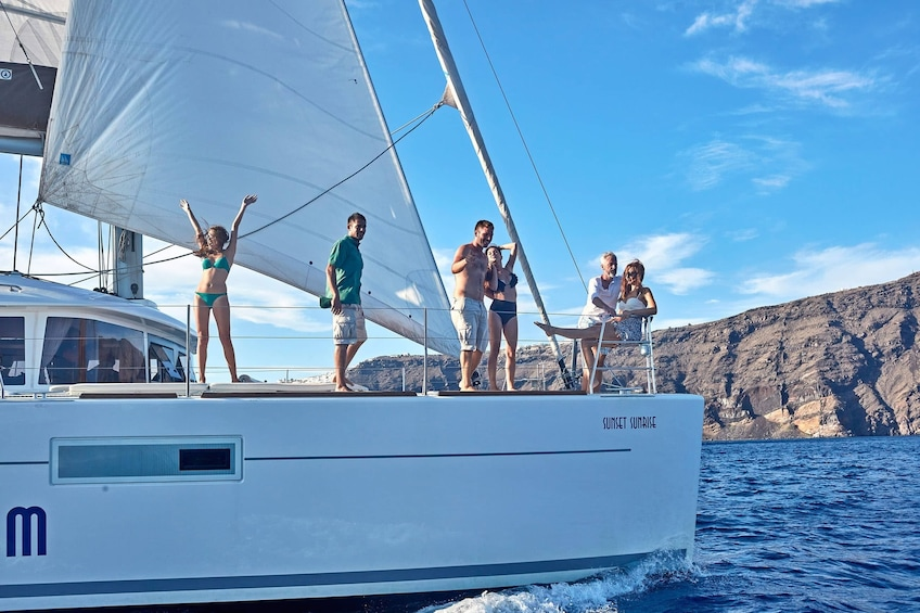 Show item 9 of 9. Small-Group Deluxe Catamaran Sailing Cruise