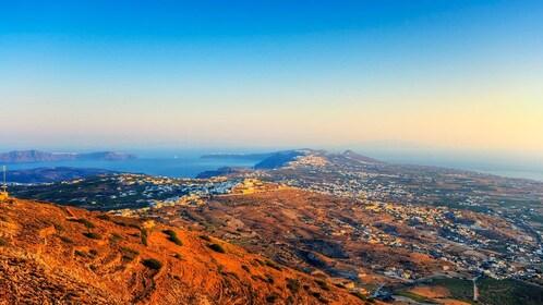 Scenic aerial view of Santorini