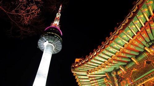 illuminated tower in seoul