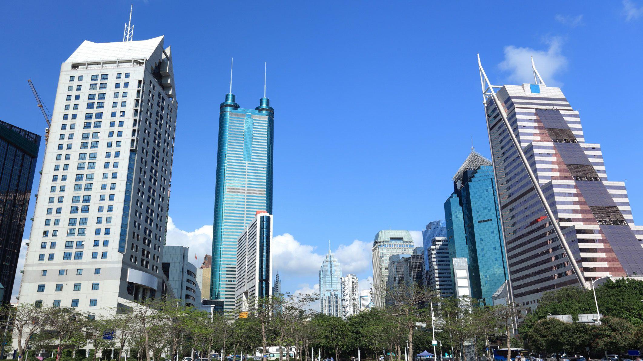 Clear day exploring the city of Hong Kong
