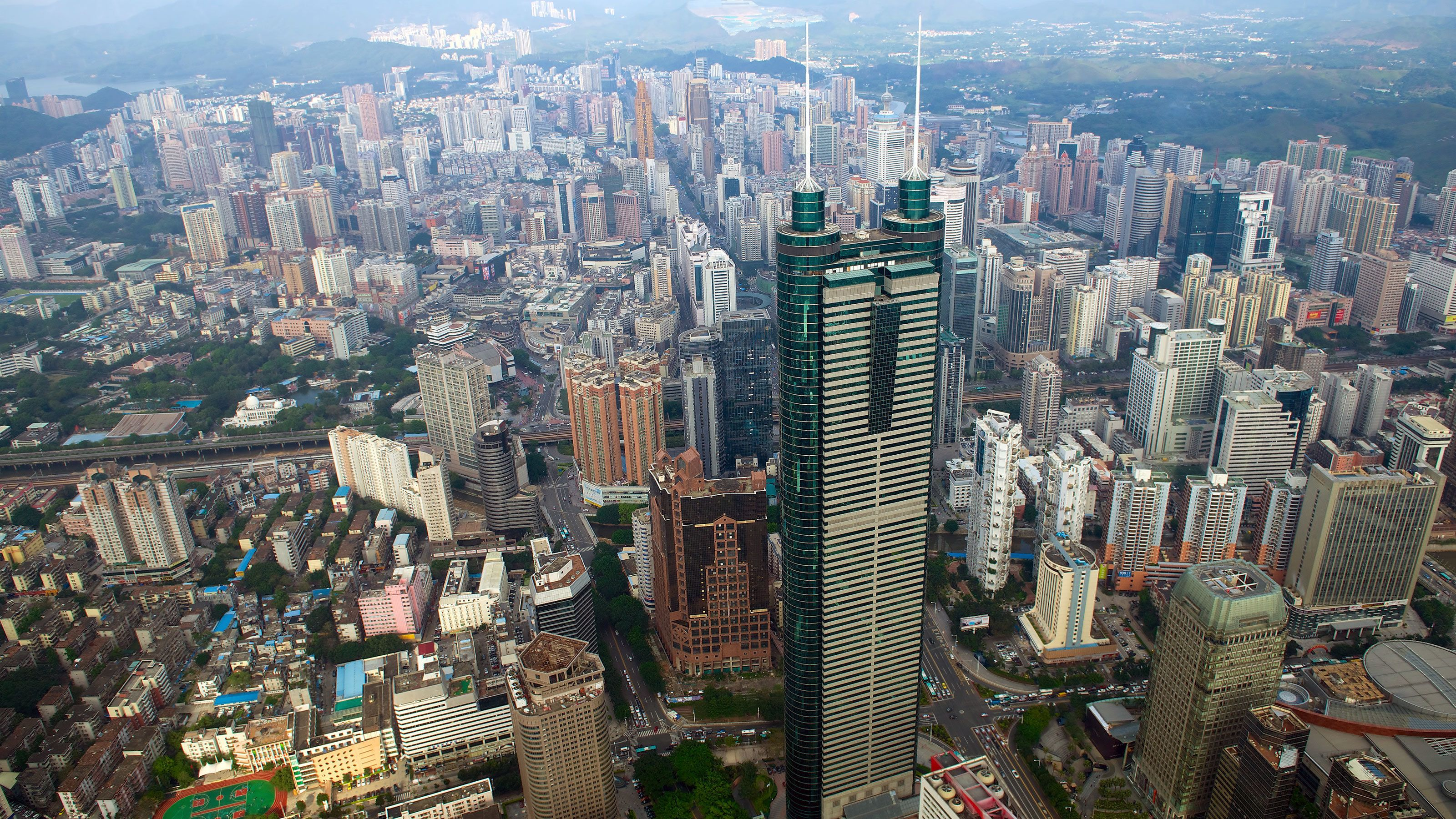 Tall skyscrapers in Hong Kong