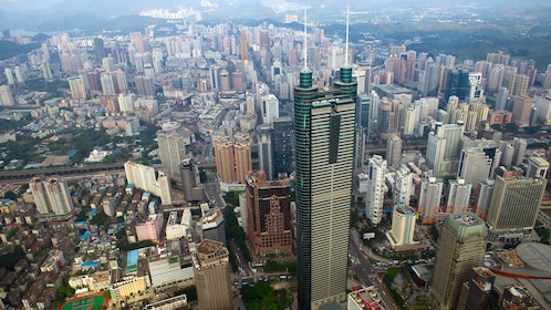 Tall skyscrapers in Hong Kong