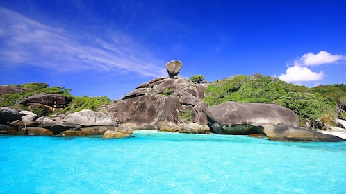 Stunning view of the waters at the Similan Islands in Thailand