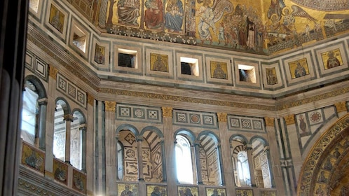 Mural view on Matroneo of Florence Baptistery Tour in Italy
