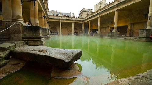 hot waters at Roman Bath House in London