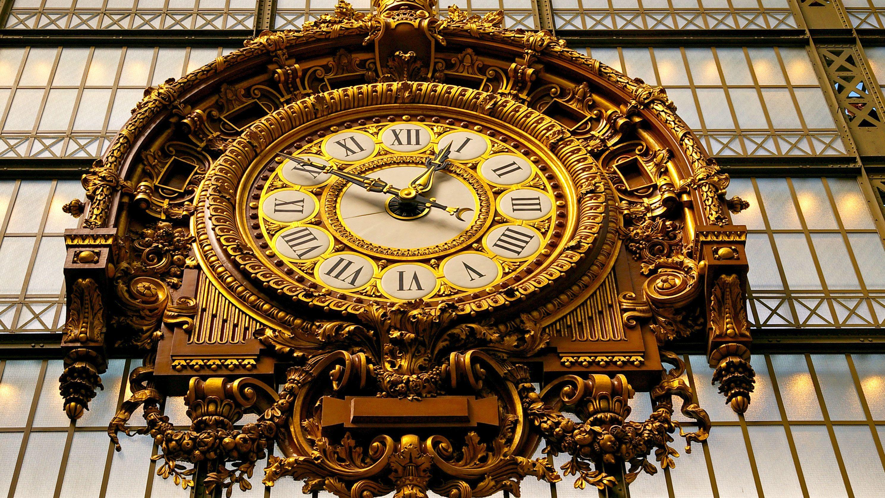 Ornate clock in Paris