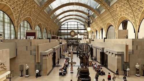 Inside the Orsay museum in Paris