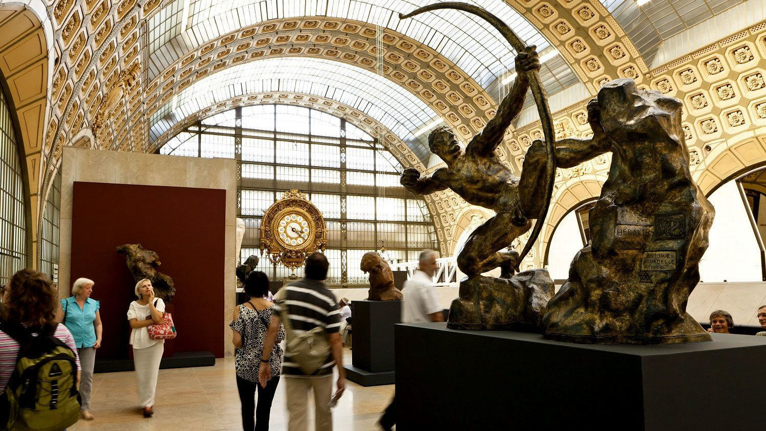 Statues inside the Orsay museum