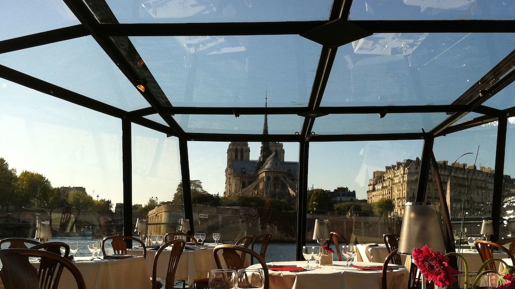 Show item 3 of 10. Looking out at Paris from the dining room