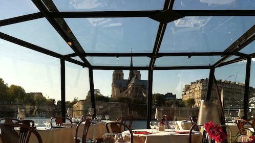 Looking out at Paris from the dining room