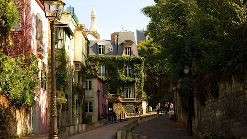 Ivy covered buildings in Montmartre