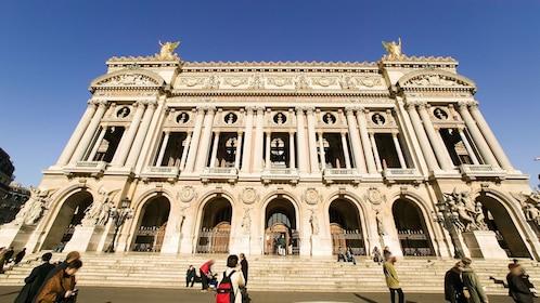 Outside the Opera Garnier in Paris